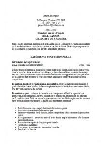 Exemple CV noir et blanc