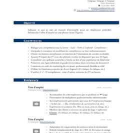Modèle de CV à télécharger, gratuit et efficace!