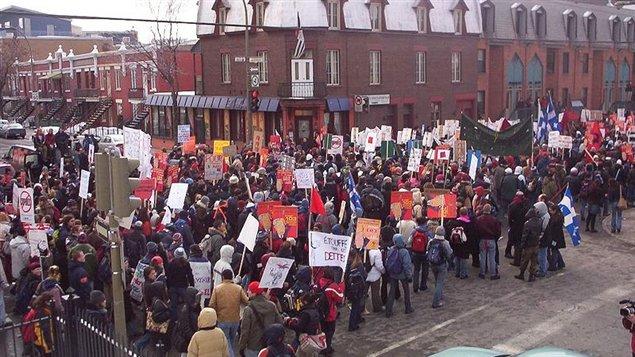 Grève du Collège Lionel-Groulx, 2005 (source : src.ca)