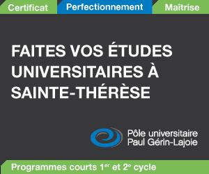 Études universitaires à Ste-Thérèse