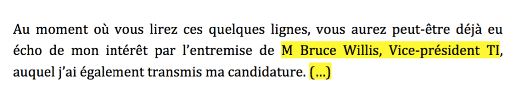 Exemple #2 - candidature double