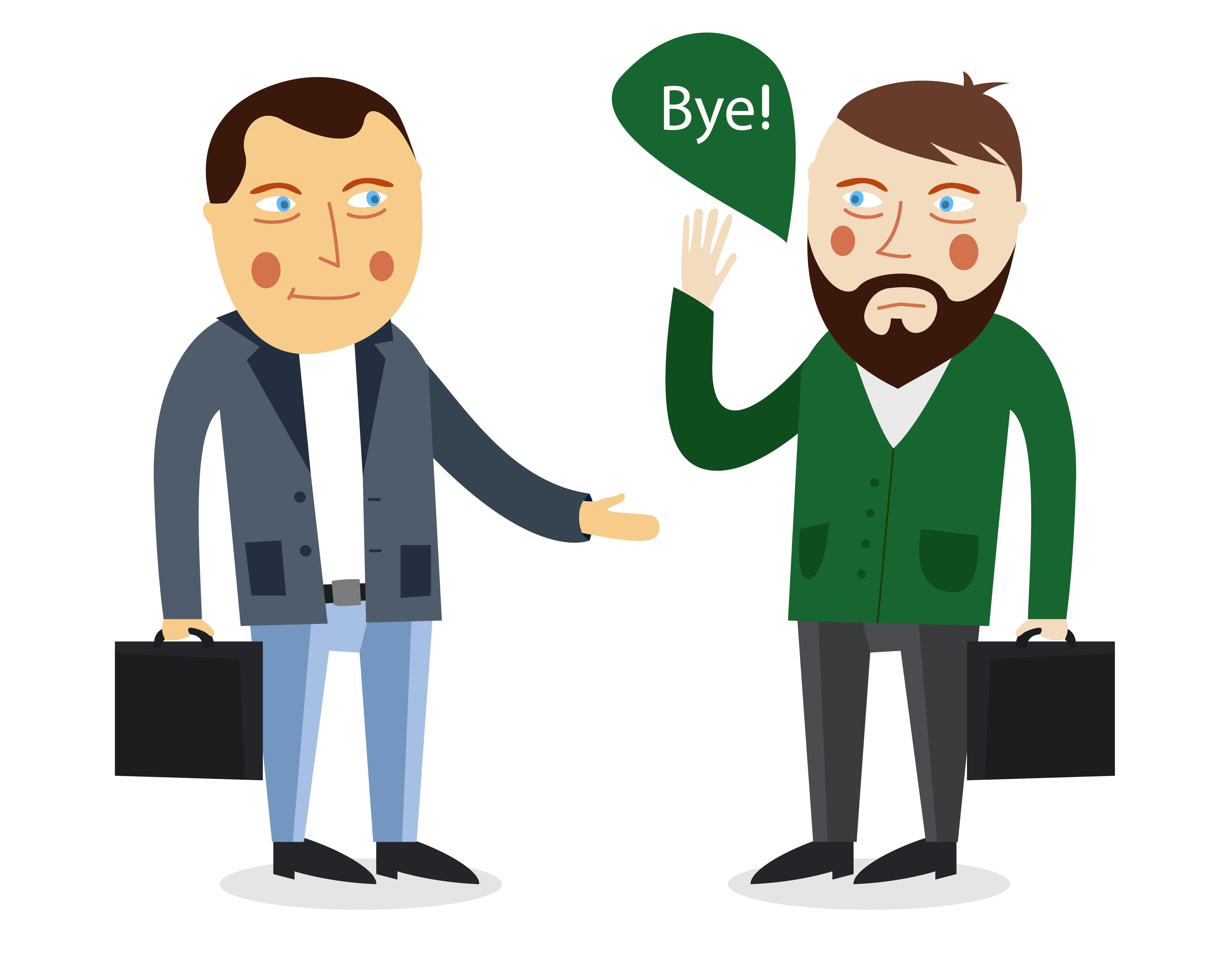 Bye bye, boss!