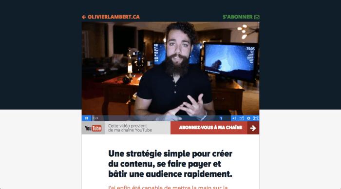 Olivier Lambert - « Une stratégie simple pour créer du contenu, se faire payer et bâtir une audience rapidement. »