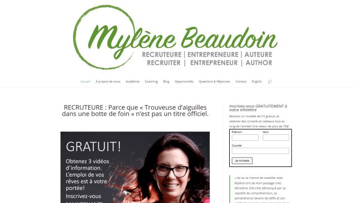 Mylène Beaudoin - Mylène Recrute
