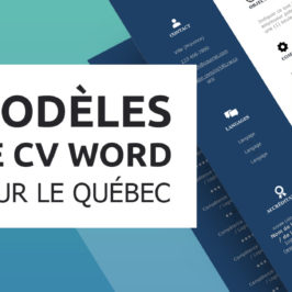 Une nouvelle collection de modèles de CV québécois!