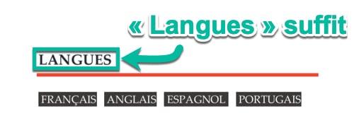 La mention « Langues » suffit sur ton CV