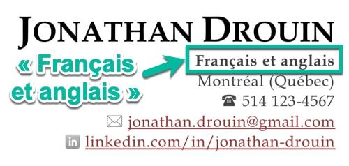 « Français et anglais » est souvent l'option à privilégier