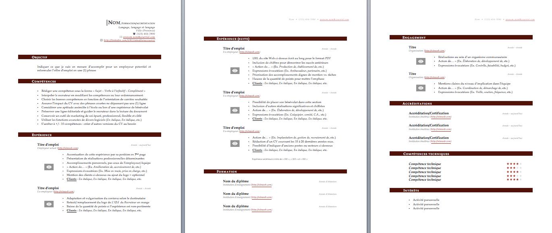 Modèle de CV rouge