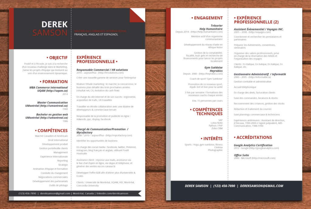exemple de cv sur 2 pages exemple cv en 2 pages   CV Anonyme exemple de cv sur 2 pages
