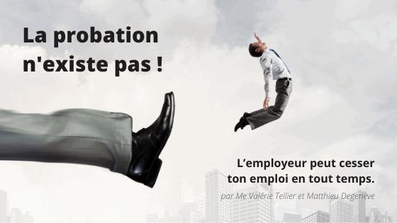 Période de probation au Québec