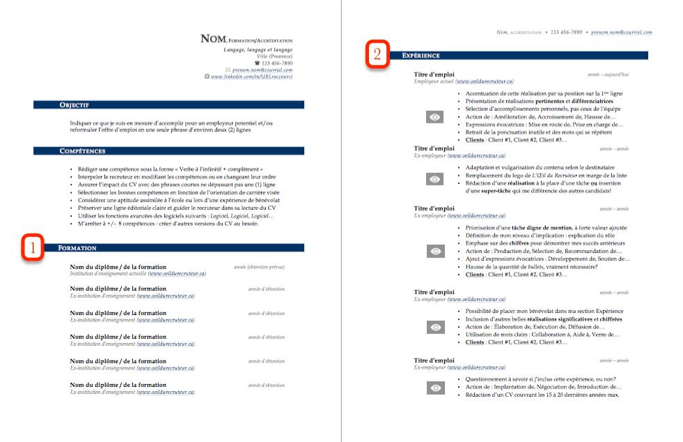 Formation dans le CV - Exemple 7