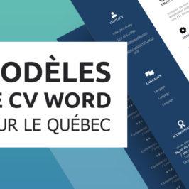 Modèles de CV Québec