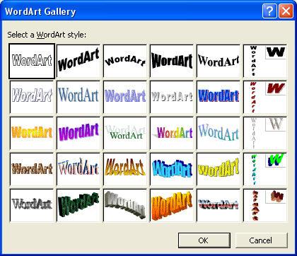 WordArt dans sa version classique