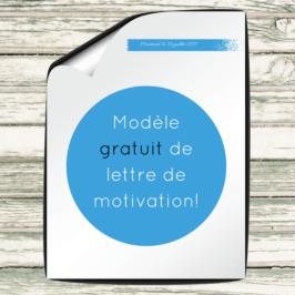 Modèle gratuit de lettre de motivation