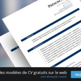 Modèle de CV gratuit et efficace à télécharger!
