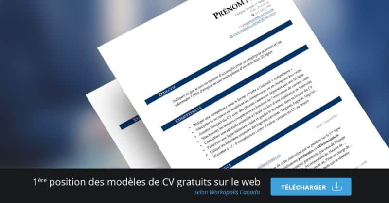 cv moderne gratuit sans inscription