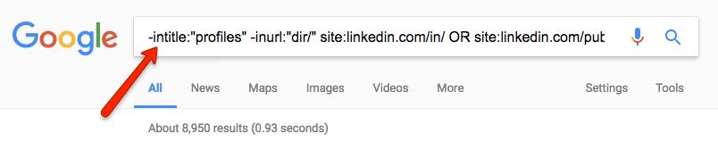 Exemple de recherche boolééenne sur Google