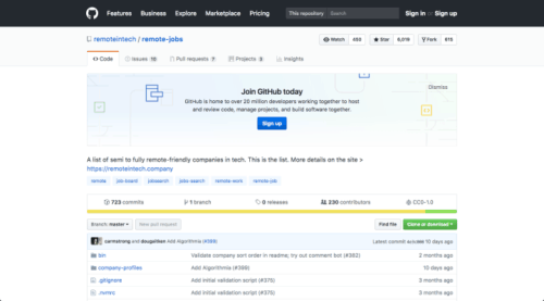 GitHub (développeurs seulement)