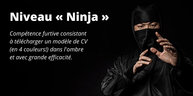 Ninja? Téléchargez le modèle sans le dire à personne.