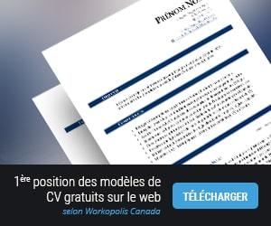 Modèle de CV gratuit