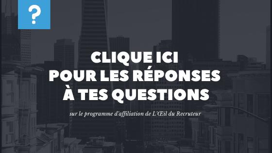On documente les questions les plus fréquentes, clique ici pour la FAQ.