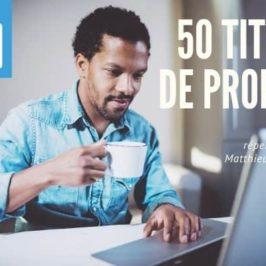 50 titres de profils LinkedIn qui t'inspireront le tien