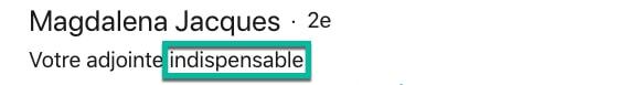 Exemple d'adjectif dans le titre LinkedIn