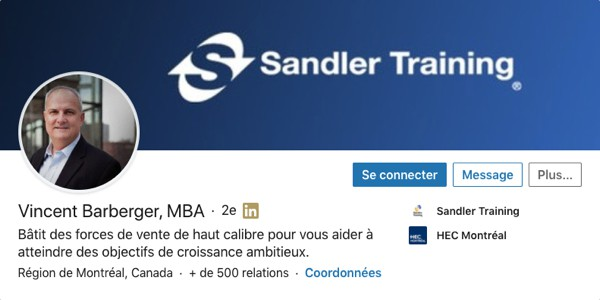 Profil LinkedIn de Vincent Barbeger
