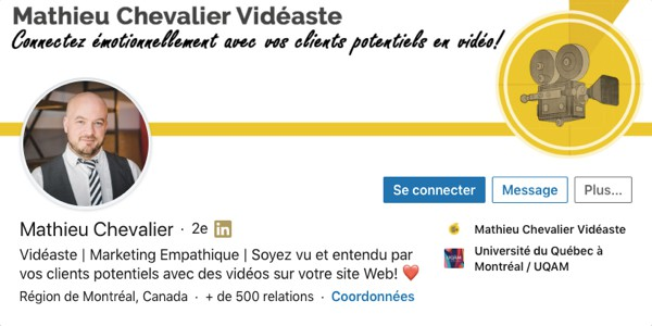 Profil LinkedIn de Mathieu Chevalier