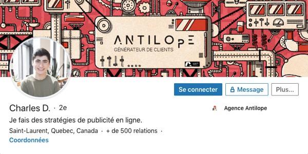 Profil LinkedIn de Charles Davignon