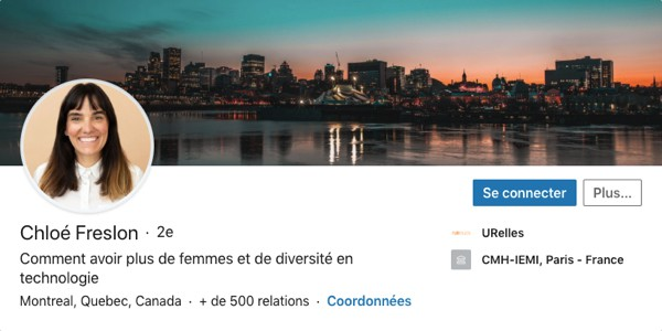 Profil LinkedIn de Chloé Freslon