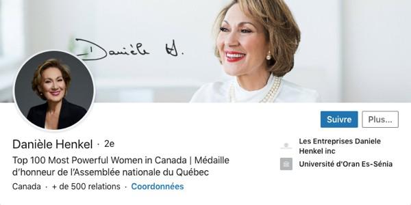 Profil LinkedIn de Danièle Henkel