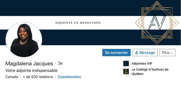 Profil LinkedIn de Magdalena Jacques