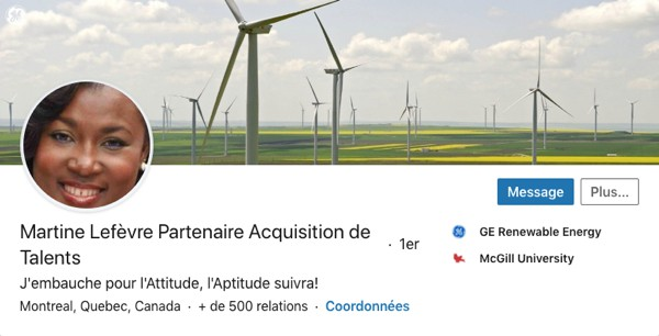 Profil LinkedIn de Martine Lefèvre