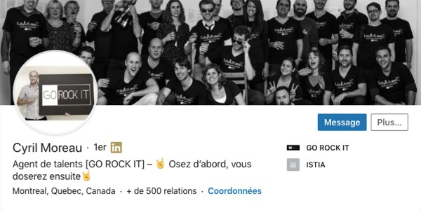 Profil LinkedIn de Cyril Moreau