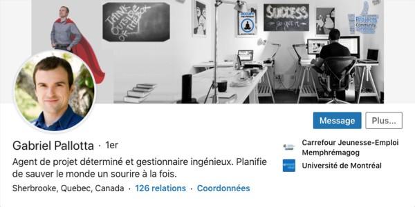 Profil LinkedIn de Gabriel Pallota
