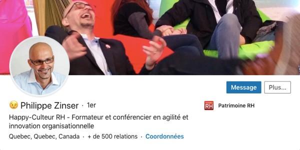 Profil LinkedIn de Philippe Zinser