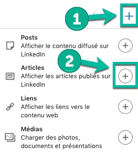 Comment afficher un article sur son profil LinkedIn