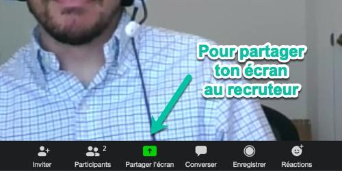 Partage ton écran et marque des points lors de ton entretien Zoom!