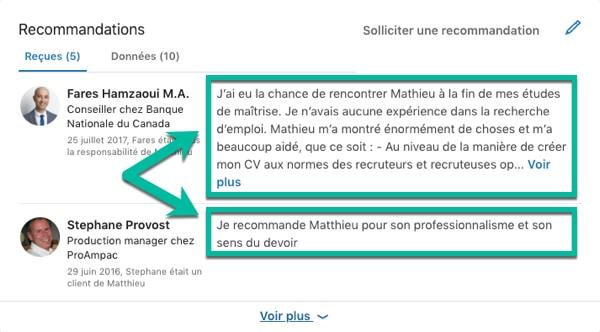 Demander des recommandations pour son profil LinkedIn