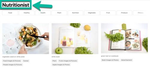 Recherche d'image pour un nutritionniste (« nutritionist »)