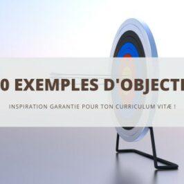 500 exemples d'objectifs pour ton CV