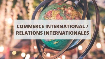 Objectifs pour un CV en commerce international et relations internationales