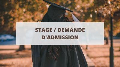 Objectifs d'un CV pour un stage ou une demande d'admission