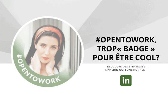 Faut-il mettre le cadre LinkedIn #OpenToWork ?