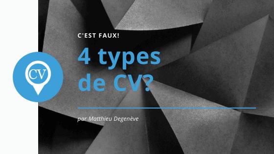 4 types de CV?