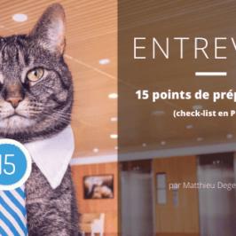 Check-list pour te préparer à l'entrevue (PDF inclus)