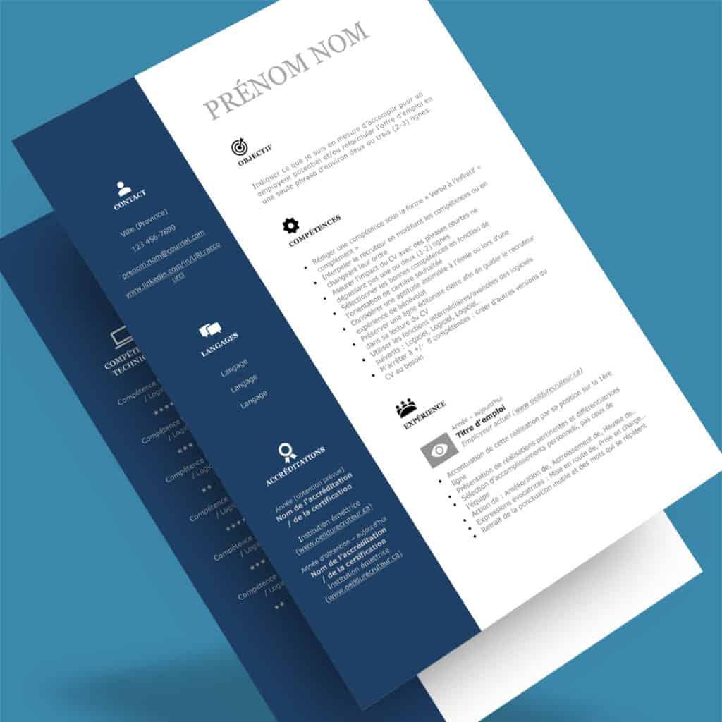 Modèle de CV québécois - L'efficace (A)